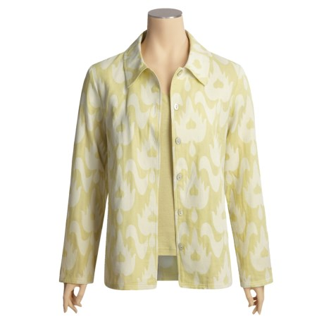 Kial Ikat Shirt Jacket - Cotton (For Women)