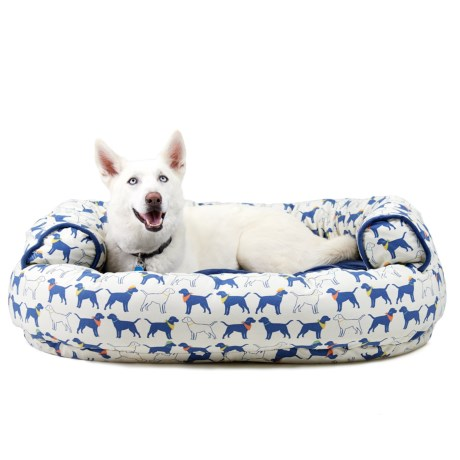 Humane Society Dogs in Hats Round Couch Dog Bed - Extra Large, 48x36""