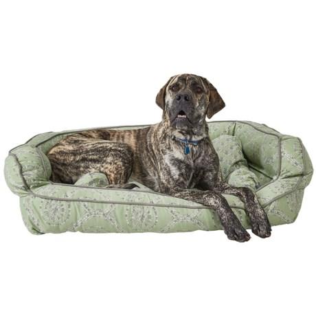 """Cynthia Rowley Rhode Medallion Bolster Dog Bed - XXL, 43x29"""""""