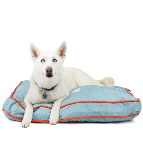 Reese & Riley I Kissed a Dog Rectangle Dog Bed - Large