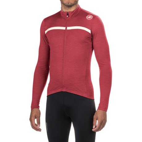 Castelli Costante Cycling Jersey - Full Zip, Merino Wool, Long Sleeve (For Men)