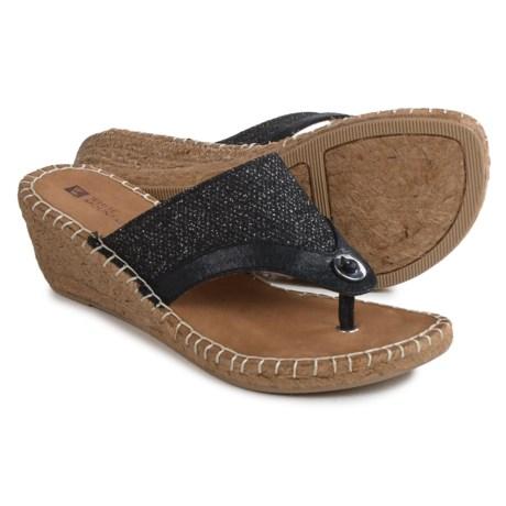 White Mountain Bandana Wedge Sandals (For Women)
