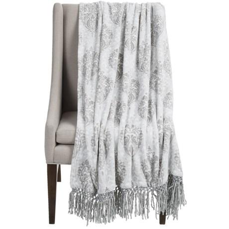 "Dream Home Lesley Chenille Fringed Throw Blanket - 50x70"""