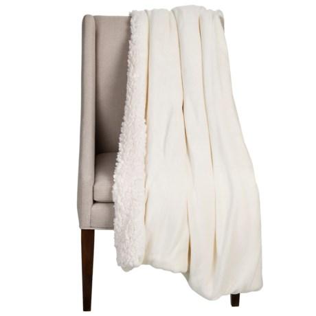 "Dream Home Devine Cloud Sherpa Reversible Throw Blanket - 50x60"""