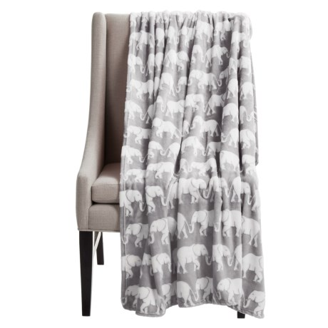 "Dream Home Kenya Elephant Throw Blanket - 50x70"""
