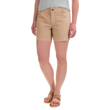 Mountain Khakis Stretch-Poplin Shorts - Slim Fit, Low Rise (For Women)