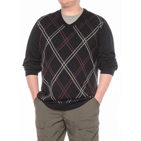 Specially made V-Neck Argyle Sweater (For Men)