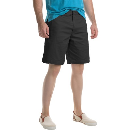 Specially made Flat-Front Twill Shorts (For Men)