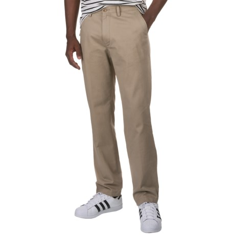 Specially made Flat-Front Cotton Twill Pants (For Men)