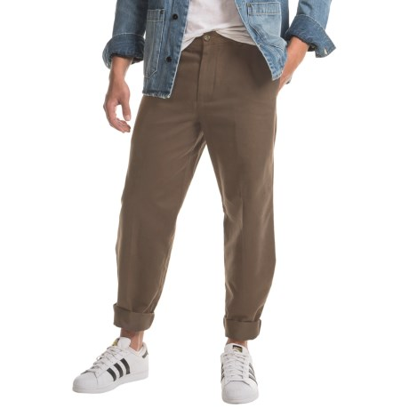 Specially made Twill Flat-Front Elastic Waist Pants (For Men)