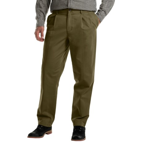 Specially made Pleated Cotton Twill Pants (For Men)