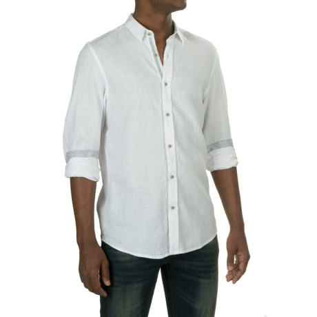 Report Collection Textured Dobby Shirt - Linen-Cotton, Long Sleeve (For Men)