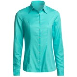 Outer Banks Dress Shirt - Cotton Dobby Twill, Long Sleeve (For Women)
