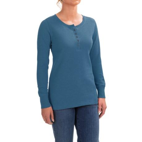 Wolverine Belle Henley Tech T-Shirt - Long Sleeve (For Women)