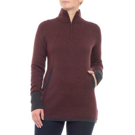 Cynthia Rowley Color-Block Sweater - Zip Mock Neck (For Women)