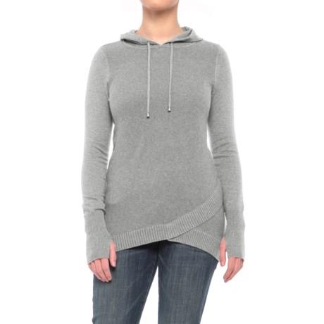 Dakini Crossover-Hem Sweater - Hooded (For Women)