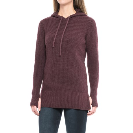 Dakini Shaker-Stitch Hooded Sweater (For Women)