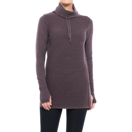 Artisan NY Cowl Neck Ribbed Tunic Sweater (For Women)