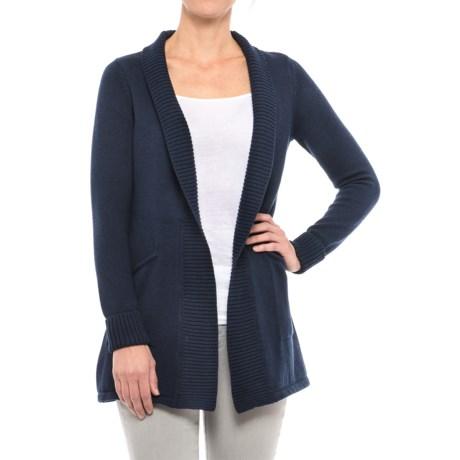 Tahari Ribbed Open Cardigan Sweater (For Women)