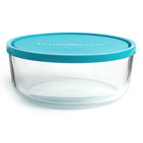 Bormioli Rocco Frigoverre Round Glass Food Storage Container - 88 oz.