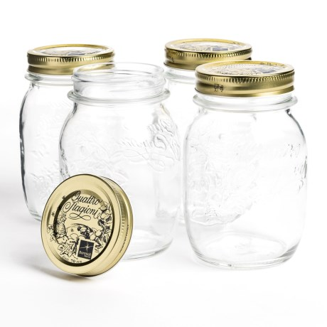 Bormioli Rocco Quattro Stagioni Canning Jars - 17 oz., Set of 4