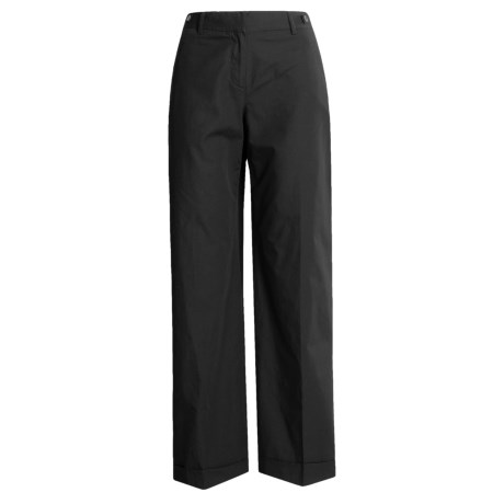 Asara Cotton Poplin Pants - Garment Washed, Cuffed (For Women)