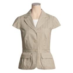 Asara Washed Linen-Cotton Jacket - Short Sleeve (For Women)