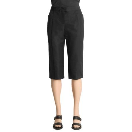 Magaschoni Capri Pants - Cotton-Silk Dupioni (For Women)