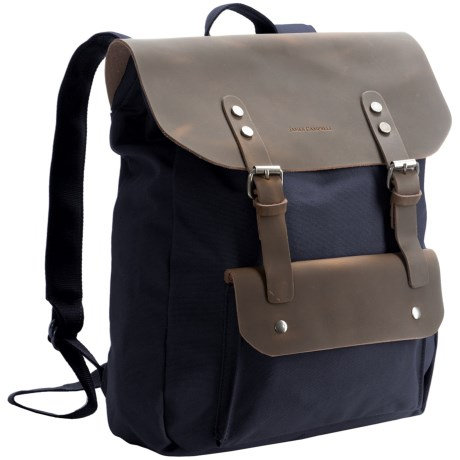 James Campbell Canvas and Leather Backpack