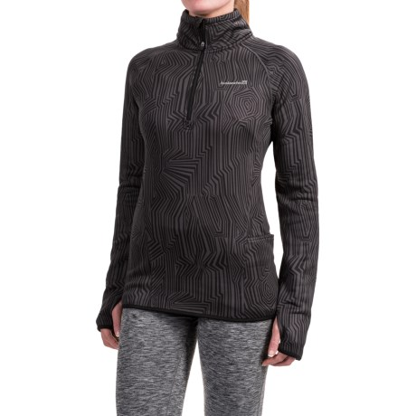 Avalanche Slalom Printed Fleece Shirt - Zip Neck, Long Sleeve (For Women)