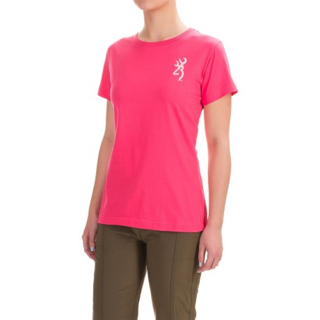 Browning Classic Fit T-Shirt - Crew Neck, Short Sleeve (For Women)