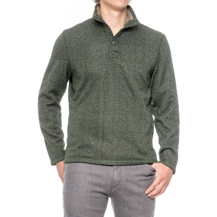 G.H. Bass & Co. Madawaska Fleece Sweater (For Men) in Forest Night Heather - Closeouts