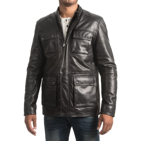 Bod & Christensen Sheepskin Leather Barn Jacket (For Men)