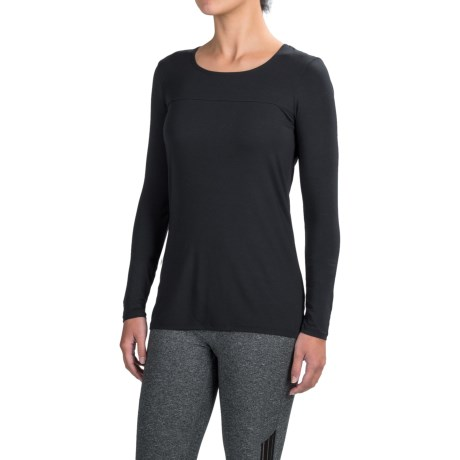 Snow Angel Modal-Cashmere Base Layer Top - Scoop Neck, Long Sleeve (For Women)