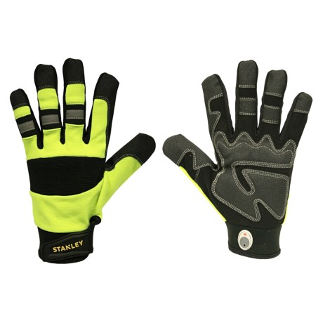 Stanley High-Visibility Padded Grip Work Gloves (For Men and Women)