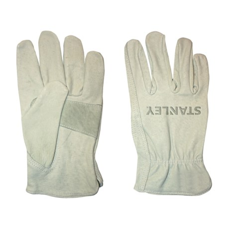 Stanley Pigskin Driver Work Gloves - Leather (For Men and Women)