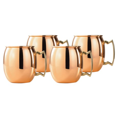 Old Dutch International Solid Copper Moscow Mule Mugs - 16 fl.oz, Set of 4