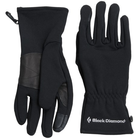 Black Diamond Equipment Welterweight Gloves Touchscreen Compatible (For Men and Women)