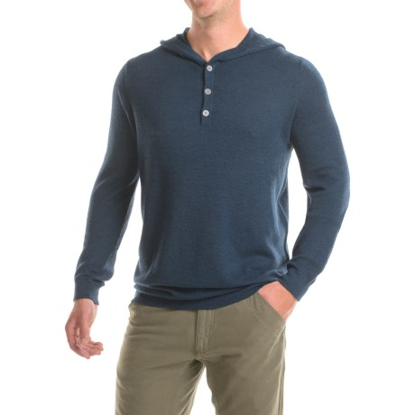 Ibex Mason Merino Wool Sweater - Hooded (For Men)