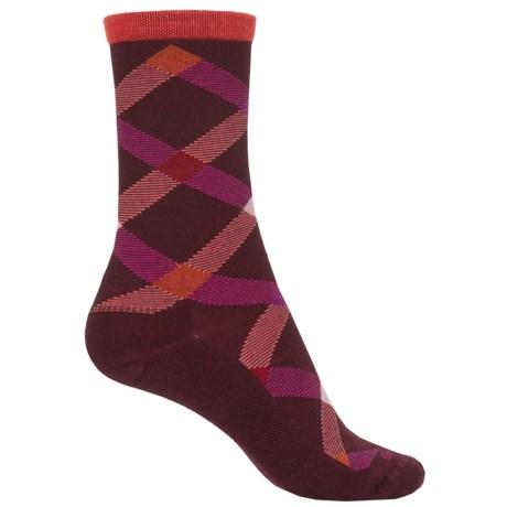 Goodhew Macro Plaid Socks - Crew (For Women)