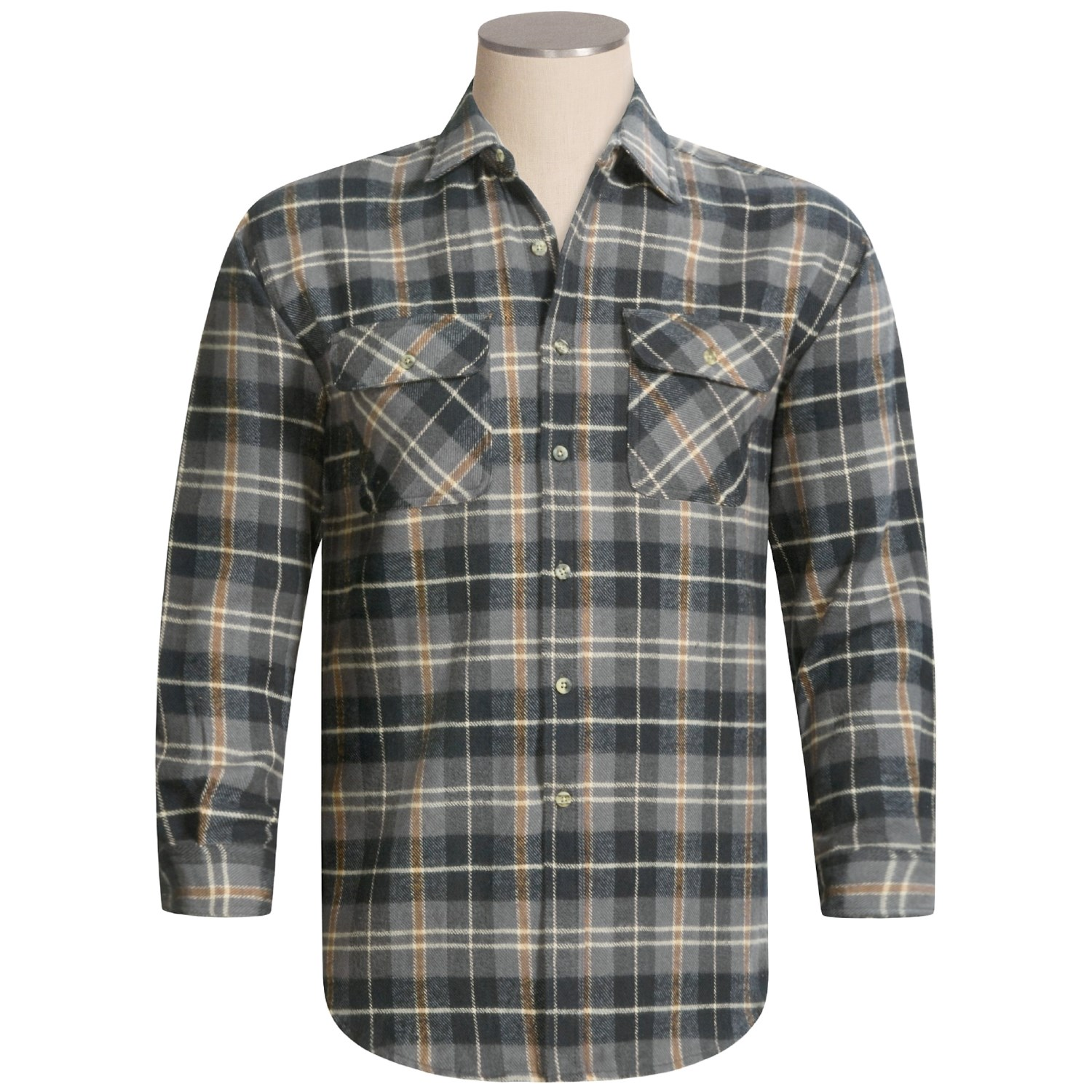 Canyon guide juneau brawny flannel shirt for men 2235p for 9 oz flannel shirt