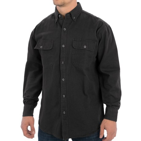 Canyon Guide Outfitters Trail Shirt - Enzyme Washed Cotton, Long Sleeve (For Men)