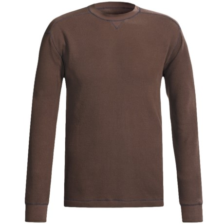 Grizzly Trapper Crew Shirt - Waffle Knit, Long Sleeve (For Men)