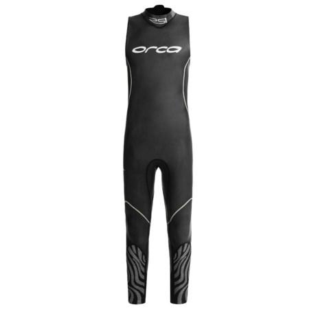 Orca RS1 Wetsuit - Triathlon Swimskin, Sleeveless (For Men)