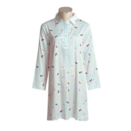 Walt Disney Collections Nightshirt - Cotton Sateen, Long Sleeve (For Women)