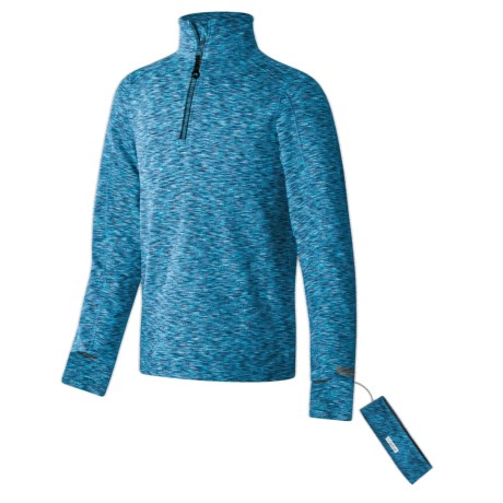 Terramar ClimaSense® 3.0 Base Layer Top and Headband - UPF 50+, Zip Neck, Long Sleeve (For Little and Big Kids)
