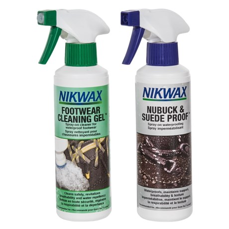 Nikwax Nubuck and Suede Footwear Cleaning and Waterproofing Duo Pack - 10 fl.oz. Each