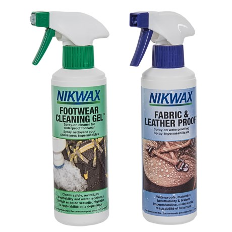 Nikwax Footwear Cleaning and Waterproofing Duo Pack - 10 fl.oz. Each