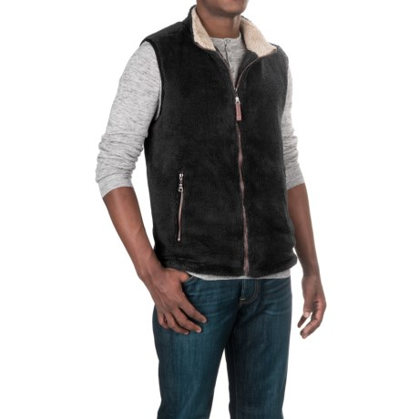 True Grit Pebble Pile Double-Up Fleece Vest (For Men)