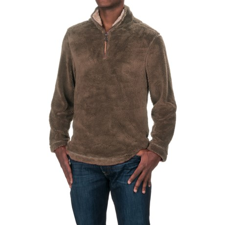 True Grit Pebble Pile Fleece Sweater - Zip Neck (For Men)